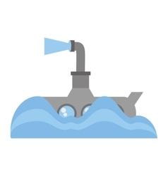 Submarine periscope underwater ocean vector