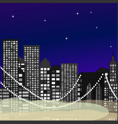 Seamless city newyork vector