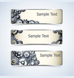 Gear banners set vector