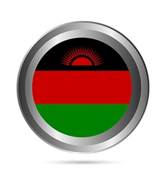 Malawi flag button vector
