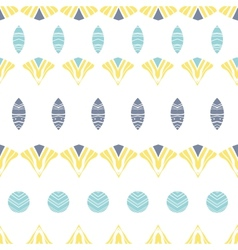 Abstract tribal shapes stripes seamless pattern vector