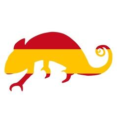Spain chameleon vector