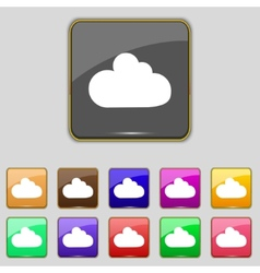 Cloud sign icon data storage symbol set colourful vector