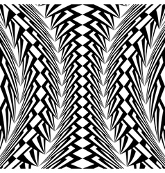 Design warped monochrome vertical pattern vector