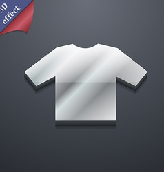 T-shirt icon symbol 3d style trendy modern design vector