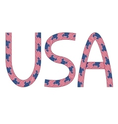 Usa inscription made from usa flags vector