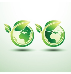 Green global label2 vector