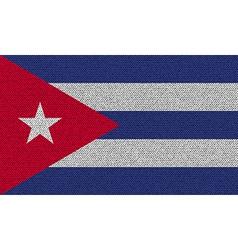 Flags cuba on denim texture vector