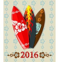 aloha surf 2016 vector image