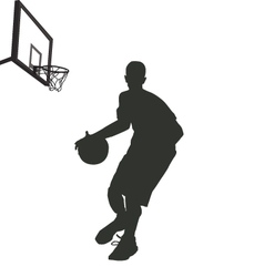 Silhouette of basketball player vector
