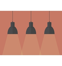 Black pendant lamps vector