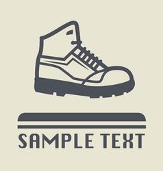 Hiking shoe icon vector image