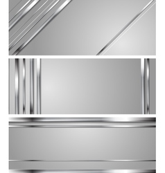 Minimal abstract technology silver headers vector