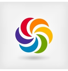 Colored abstract circle symbol vector image