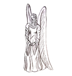 angel statue vector image vector image