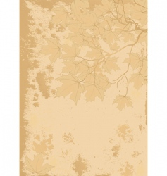 Autumn leaves antique background vector