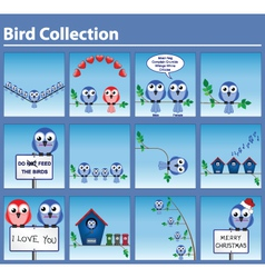bird pictograms vector image vector image