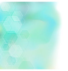 Bokeh abstract hexagon background vector image