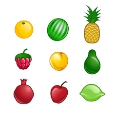 cute fruit set vector image