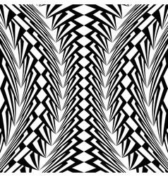 Design warped monochrome vertical pattern vector