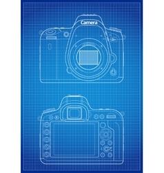 Dslr camera outline vector
