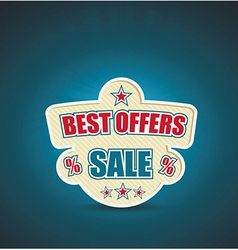 emlbem for best offer With place for text vector image vector image