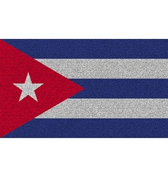 Flags cuba on denim texture vector
