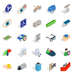 junction icons set isometric style vector image