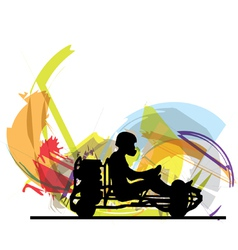 Kart race vector