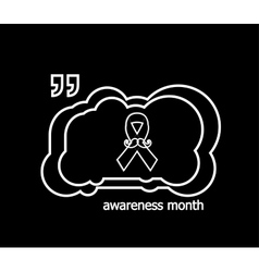 Prostate cancer ribbon awareness on black vector image