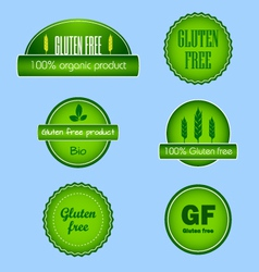 Set of gluten free food labels vector