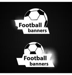 Soccer banners set vector