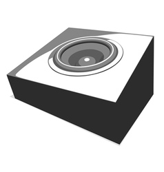 Sound-system party flyer in shades of gray vector