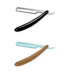Straight Razor Color and Monochrome Version An vector image