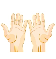 Stretched palm of the person vector image