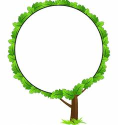 tree frame icon vector image