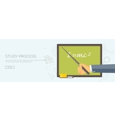 University Flat header vector image