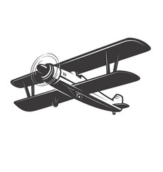 Vintage aeroplane isolated on white vector