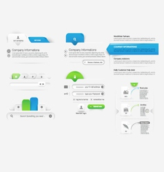 Website template infographic design menu vector image vector image