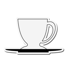 Porcelain cup and plate icon vector
