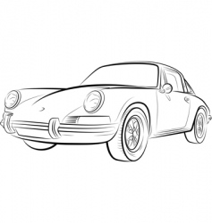 drawing of the expensive car vector image