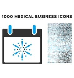 Fireworks boom calendar day icon with 1000 medical vector
