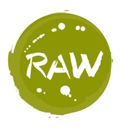 Raw food hand drawn isolated label vector