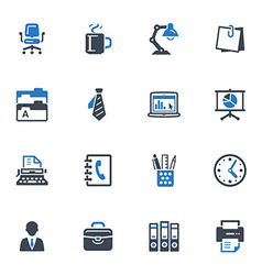 Office icons-blue series vector