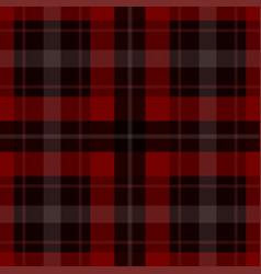 seamless red black tartan - white stripes vector image