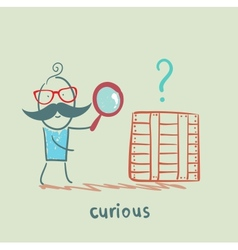 curious vector image