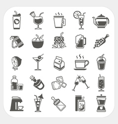 Beverage icons set vector