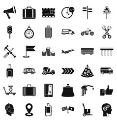 fast delivery icons set simple style vector image