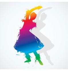 Colorful indian classical dancer vector