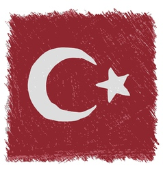 Flag of turkey handmade square shape vector